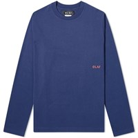Olaf Hussein Long Sleeve Piste Ski Map Tee Blue