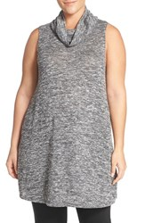 Sejour Plus Size Women's Cowl Neck Sleeveless Knit Tunic
