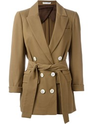 Barbara Casasola Belted Blazer Brown