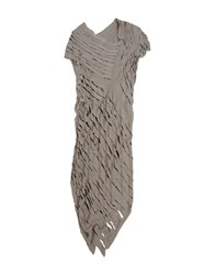 Alessandra Marchi Dresses Knee Length Dresses Women Khaki