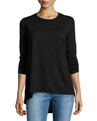 W By Wilt Long Sleeve Slub Knit Top Black