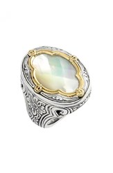 Women's Konstantino 'Selene' Mother Of Pearl Ring Silver Mother Of Pearl