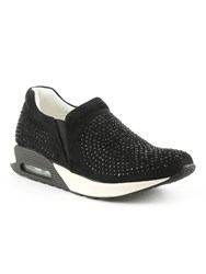 Daniel Allerthorpe Embellished Slip On Trainers Black