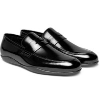 Harry's Of London Harrys Downing 2 Polished Leather Penny Loafers Black