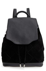 Rag And Bone Pilot Suede Leather Backpack Black