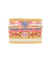 Hipanema Camelia Bracelet Metallic Gold