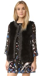 Jocelyn Fox Belly Vest Black