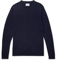 Norse Projects Sigfred Merino Wool Sweater Navy
