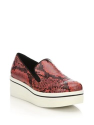 Stella Mccartney Rubber Platform Faux Python Loafers Natural