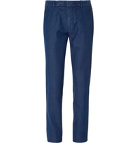 Tom Ford Blue Slim Fit Denim Trousers Navy