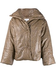 Nanushka Padded Down Jacket Brown