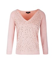 Morgan Diamante Embellished Jumper Pink