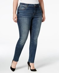 Inc International Concepts Plus Size Slim Tech Skinny Jeans Only At Macy's Chorus Wash