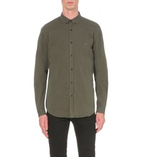 The Kooples Slim Fit Cotton Shirt Black