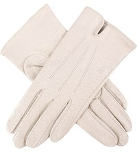 Dents Peccary Effect Leather Gloves Parchment