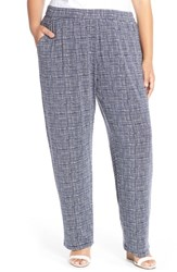 Plus Size Women's Tart 'Liviana' Print Jersey Pants Sketched Grid