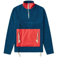 Acne Studios Faraz Patch Fleece Jacket Blue