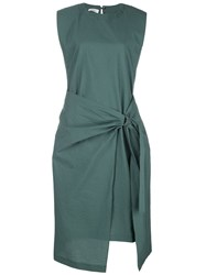 Brunello Cucinelli Gathered Midi Dress Green