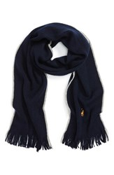 Polo Ralph Lauren Men's Merino Wool Scarf Hunter Navy