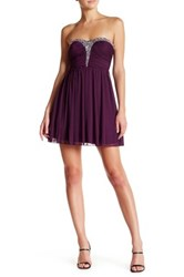 Speechless Strapless Embellished Dress Juniors Purple