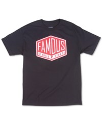 Famous Stars And Straps Men's Graphic Print Logo T Shirt Black