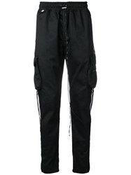 Represent Drawstring Track Trousers Black
