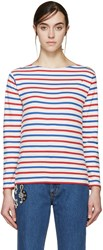 Saint Laurent Tricolor Distressed T Shirt
