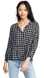 Rails Celeste Blouse Onyx White Check