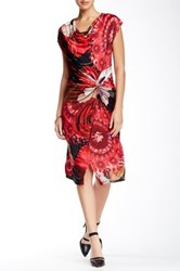 Desigual Printed Cowl Neck Dress Multi