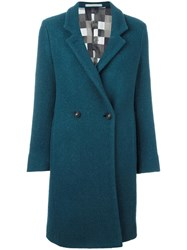 Massimo Alba Rounded Fastening Coat Blue