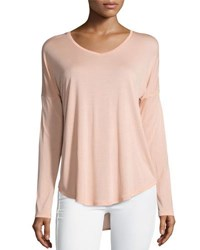 Halston Solid Long Sleeve Georgette Tunic Glow