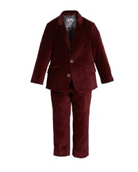 Appaman Boys' Two Piece Mod Velvet Suit 2 14 Red