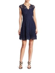 Shoshanna Buchanan Cotton Lace Fit And Flare Dress