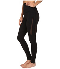 Beyond Yoga High Waist Mesh Legging Black Women's Casual Pants