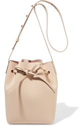 Mansur Gavriel Mini Leather Bucket Bag Cream
