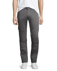 Jachs Ny Motorcycle Stretch Knit Pants Gray