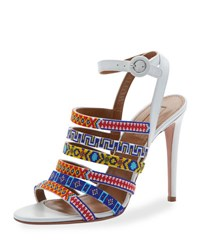 Aquazzura Masai Beaded 105Mm Sandal Multi Colored