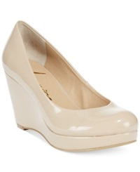 American Rag Kenna Platform Wedge Pumps Only At Macy's Women's Shoes Nude Patent