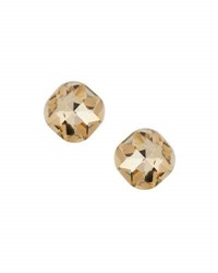 Emily And Ashley Cushion Cut Crystal Stud Earrings Gold
