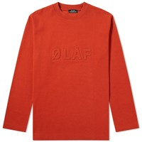 Olaf Hussein Long Sleeve Raised Tee Red