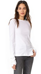 Helmut Lang Deconstructed Long Sleeve Tee White