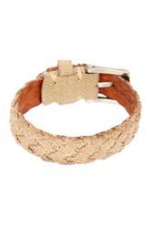 John Varvatos Braided Fabric Cuff Bracelet Beige