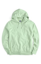 J.Crew Garment Dyed French Terry Hoodie Mint Cream