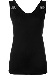 Versus Lion Stud Ribbed Tank Top Black