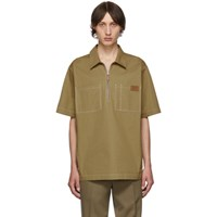 Burberry Tan Twill Street Short Sleeve Shirt