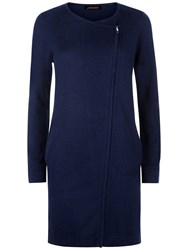 Jaeger Longline Side Zip Cardigan Navy