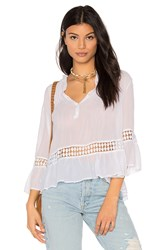 Maven West Mila Peasant Blouse White