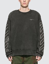 Off White Abstract Arrows Incomp Sweatshirt Black