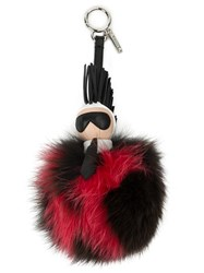 Fendi 'Karl' Pompom Bag Charm Brown