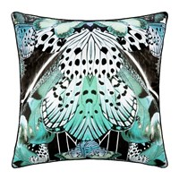 Roberto Cavalli Flying Wings Silk Cushion 60X60cm Light Blue